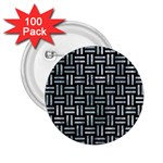 WOVEN1 BLACK MARBLE & ICE CRYSTALS (R) 2.25  Buttons (100 pack)