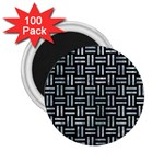 WOVEN1 BLACK MARBLE & ICE CRYSTALS (R) 2.25  Magnets (100 pack)