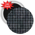 WOVEN1 BLACK MARBLE & ICE CRYSTALS (R) 3  Magnets (100 pack)
