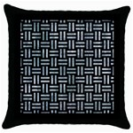 WOVEN1 BLACK MARBLE & ICE CRYSTALS (R) Throw Pillow Case (Black)