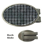 WOVEN1 BLACK MARBLE & ICE CRYSTALS (R) Money Clips (Oval)