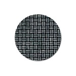 WOVEN1 BLACK MARBLE & ICE CRYSTALS (R) Magnet 3  (Round)