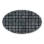 WOVEN1 BLACK MARBLE & ICE CRYSTALS (R) Oval Magnet