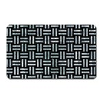 WOVEN1 BLACK MARBLE & ICE CRYSTALS (R) Magnet (Rectangular)
