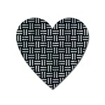 WOVEN1 BLACK MARBLE & ICE CRYSTALS (R) Heart Magnet