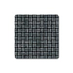 WOVEN1 BLACK MARBLE & ICE CRYSTALS (R) Square Magnet