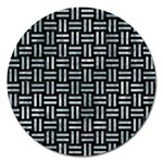 WOVEN1 BLACK MARBLE & ICE CRYSTALS (R) Magnet 5  (Round)