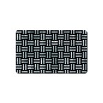 WOVEN1 BLACK MARBLE & ICE CRYSTALS (R) Magnet (Name Card)