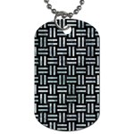 WOVEN1 BLACK MARBLE & ICE CRYSTALS (R) Dog Tag (One Side)