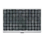 WOVEN1 BLACK MARBLE & ICE CRYSTALS (R) Business Card Holders