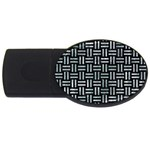 WOVEN1 BLACK MARBLE & ICE CRYSTALS (R) USB Flash Drive Oval (2 GB)