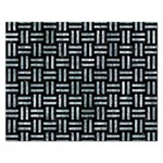 WOVEN1 BLACK MARBLE & ICE CRYSTALS (R) Rectangular Jigsaw Puzzl