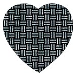 WOVEN1 BLACK MARBLE & ICE CRYSTALS (R) Jigsaw Puzzle (Heart)