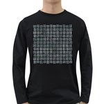 WOVEN1 BLACK MARBLE & ICE CRYSTALS (R) Long Sleeve Dark T-Shirts