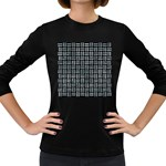 WOVEN1 BLACK MARBLE & ICE CRYSTALS (R) Women s Long Sleeve Dark T-Shirts