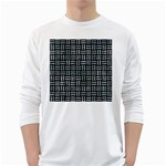 WOVEN1 BLACK MARBLE & ICE CRYSTALS (R) White Long Sleeve T-Shirts