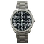 WOVEN1 BLACK MARBLE & ICE CRYSTALS (R) Sport Metal Watch