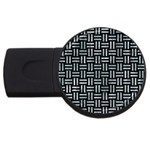 WOVEN1 BLACK MARBLE & ICE CRYSTALS (R) USB Flash Drive Round (4 GB)