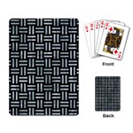 WOVEN1 BLACK MARBLE & ICE CRYSTALS (R) Playing Card