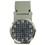 WOVEN1 BLACK MARBLE & ICE CRYSTALS (R) Money Clip Watches
