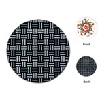 WOVEN1 BLACK MARBLE & ICE CRYSTALS (R) Playing Cards (Round)