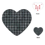 WOVEN1 BLACK MARBLE & ICE CRYSTALS (R) Playing Cards (Heart)