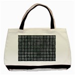 WOVEN1 BLACK MARBLE & ICE CRYSTALS (R) Basic Tote Bag