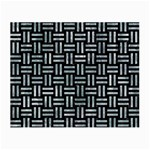 WOVEN1 BLACK MARBLE & ICE CRYSTALS (R) Small Glasses Cloth (2-Side)