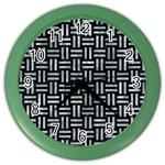WOVEN1 BLACK MARBLE & ICE CRYSTALS (R) Color Wall Clocks