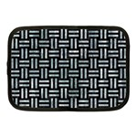 WOVEN1 BLACK MARBLE & ICE CRYSTALS (R) Netbook Case (Medium)