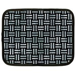 WOVEN1 BLACK MARBLE & ICE CRYSTALS (R) Netbook Case (Large)