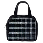 WOVEN1 BLACK MARBLE & ICE CRYSTALS (R) Classic Handbags (One Side)