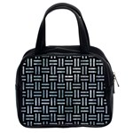WOVEN1 BLACK MARBLE & ICE CRYSTALS (R) Classic Handbags (2 Sides)