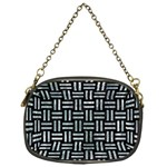 WOVEN1 BLACK MARBLE & ICE CRYSTALS (R) Chain Purses (One Side)
