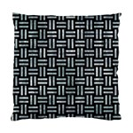 WOVEN1 BLACK MARBLE & ICE CRYSTALS (R) Standard Cushion Case (Two Sides)