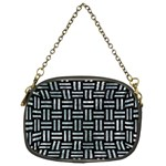 WOVEN1 BLACK MARBLE & ICE CRYSTALS (R) Chain Purses (Two Sides)