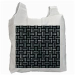WOVEN1 BLACK MARBLE & ICE CRYSTALS (R) Recycle Bag (One Side)