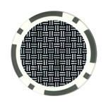 WOVEN1 BLACK MARBLE & ICE CRYSTALS (R) Poker Chip Card Guard (10 pack)