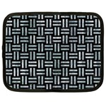 WOVEN1 BLACK MARBLE & ICE CRYSTALS (R) Netbook Case (XL)