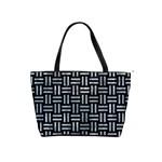 WOVEN1 BLACK MARBLE & ICE CRYSTALS (R) Shoulder Handbags