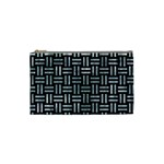 WOVEN1 BLACK MARBLE & ICE CRYSTALS (R) Cosmetic Bag (Small)