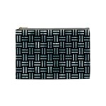 WOVEN1 BLACK MARBLE & ICE CRYSTALS (R) Cosmetic Bag (Medium)