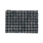 WOVEN1 BLACK MARBLE & ICE CRYSTALS (R) Cosmetic Bag (Large)
