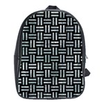 WOVEN1 BLACK MARBLE & ICE CRYSTALS (R) School Bag (Large)