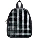 WOVEN1 BLACK MARBLE & ICE CRYSTALS (R) School Bag (Small)