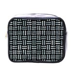 WOVEN1 BLACK MARBLE & ICE CRYSTALS (R) Mini Toiletries Bags