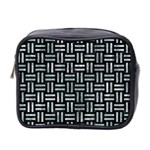 WOVEN1 BLACK MARBLE & ICE CRYSTALS (R) Mini Toiletries Bag 2-Side