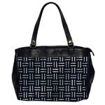 WOVEN1 BLACK MARBLE & ICE CRYSTALS (R) Office Handbags