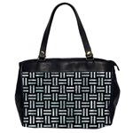 WOVEN1 BLACK MARBLE & ICE CRYSTALS (R) Office Handbags (2 Sides)