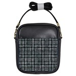 WOVEN1 BLACK MARBLE & ICE CRYSTALS (R) Girls Sling Bags